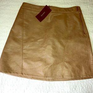 Zara leather skirt